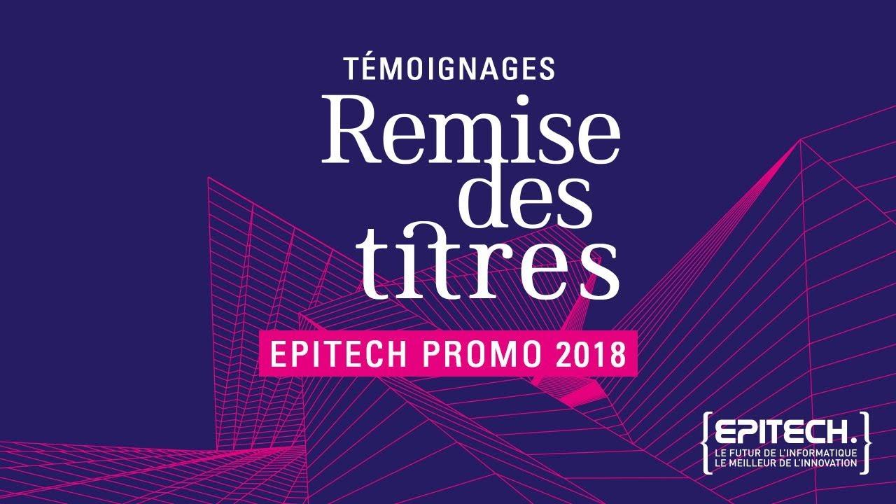 Remise Des Titres Epitech 2018